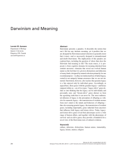 Darwinism and Meaning