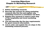 Chapter 6: Marketing Research