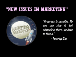 NEW ISSUES IN MARKETING