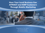 Why Mobile Marketing?