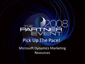 Keynote Title - Marketing services for Microsoft, Sage
