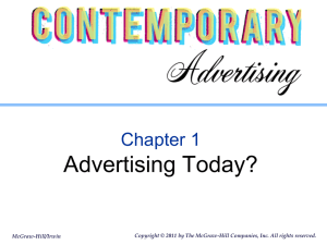 Chapter 1 Contemporary Advertising Arens 13 e File