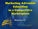 Marketing Adventist Education in a Competitive Marketplace