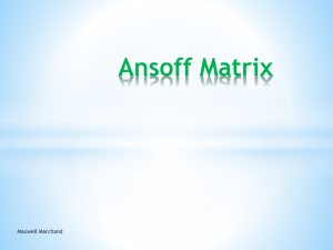 Ansoff Matrix - Elgin Park Computers