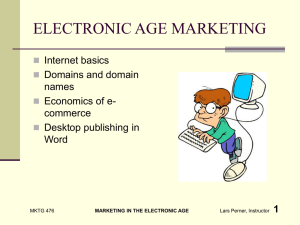 ELECTRONIC AGE MARKETING