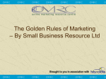 The Golden Rules of Marketing