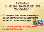 Acquire foundational knowledge of marketing