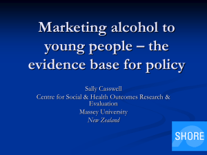 Marketing alcohol to young people – the evidence base for