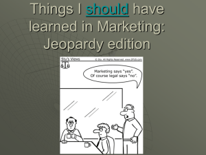 Things I should have learned in marketing