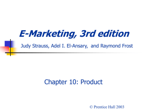 E-Marketing, 3rd edition Judy Strauss, Raymond Frost