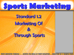 Marketing OF Sport - Davis School District