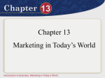 Marketing in Today`s World