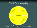 The Four P`s of Marketing