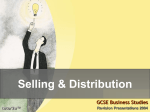 Selling & Distribution