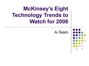 Chapter8-McKinsey`s Eight Technology Trends to Watch for 2008
