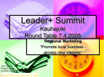 Leader+ Summit Kauhajoki Round Table 7.4.2005