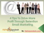 4 Tips To Drive More Profit Through Retention Email