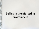 Selling in the Marketing Environment