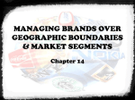 managing brands over geographic boundaries