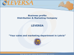 Your sales and marketing department in Latvia