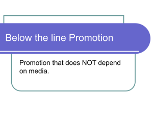 Below the line Promotion