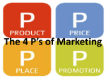 The 4 P`s of Marketing