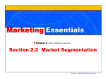 Market Segmentation - Marketing1atRHS2011