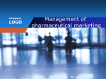 Management of pharmaceutical marketing
