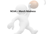 NCAA – March Madness - Scott County Schools