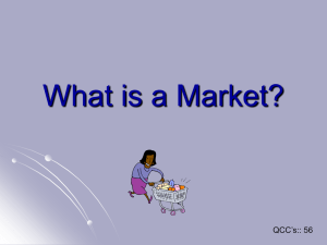 What is a Market p1