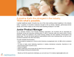 Think what`s possible. Junior Product Manager