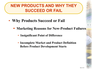 new products and why they succeed or fail
