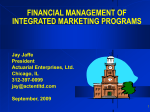 Effective Financial Criteria for Integrated Marketing