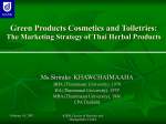 Green Products Cosmetics and Toiletries