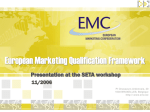 The European Marketing Confederation (EMC)