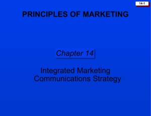 Chapter 14: Integrated Marketing Communication