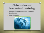 Globalization and international marketing