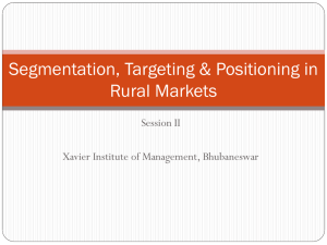 Session II- Rural Marketing - Xavier Institute of Management
