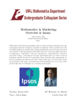 Mathematics in Marketing: Overview & Issues