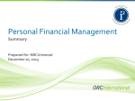 Personal Financial Management Tools