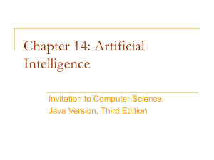 Chapter 14: Artificial Intelligence