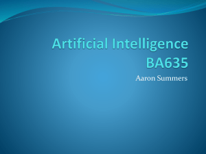 Artificial Intelligence BA635