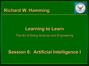 Richard W. Hamming - Learning to Learn