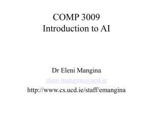 COMP 3009 Introduction to AI