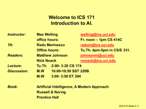 Notes 1: Introduction to Artificial Intelligence