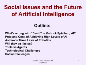 Social Issues and the Future of AI