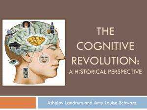 The Cognitive Revolution: a historical perspective