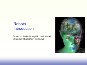 Lecture 18 Robots Introduction