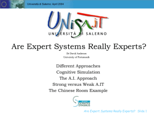 Are Expert Systems Really Experts?