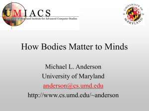 How Bodies Matter to Minds - Action
